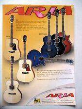PUBLICITE-ADVERTISING :  Guitares ARIA AW75,AW130S,ASP130,FETSTDBL  11/2002