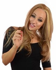 Julia | Long Ibiza Blonde Lace Front Feathered Fashion Wig | Side Parting
