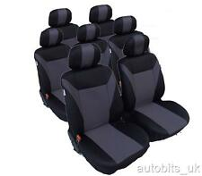 FULL SET  GREY-BLACK 7 FABRIC SEAT COVERS FOR CITROEN C8 XSARA PICASSO SYNERGIE