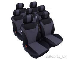 Juego Completo Gris-Negro 7 Tela Cubiertas Para Asientos Citroen C4 Grand