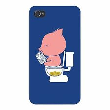 Cha Ching Pig Pooping Coins Humor FITS iPhone 4 4s Funny Snap On Case Cover New