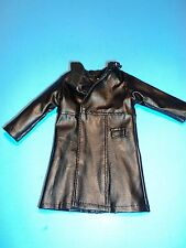 "1/6 Scale Black Leather Trench Coat for all 12"" Figure"