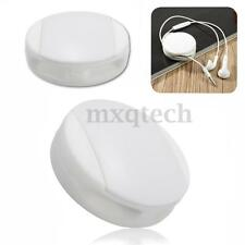 White Silicone Earbud Earphone Cord Cable Wrap Winder Wire Holders Organizer New