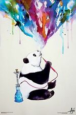 CHAI - WATERCOLOR PANDA ART POSTER - 24x36 HOOKAH SMOKING 10800