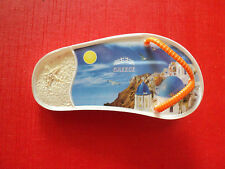 Souvenir Greece plastic slipper clip magnet of Santorini