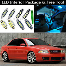 13PCS Canbus Ice Blue LED Interior Lights Package kit Fit 96-2001 Audi A4 B5 J1