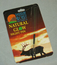 "GREEN ""NATURAL GLOW"" SIGHT PIN for HUNTING-3D-TARGET ARCHERY Fiber Gather Optics"