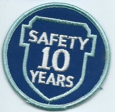 Greyhound Bus, driver patch, 10 Safety Years. 3 inch diameter