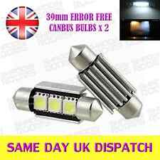 39mm LAMPADINE CANBUS 3 LED SMD c5w 239 Xenon bianche (COPPIA) BMW