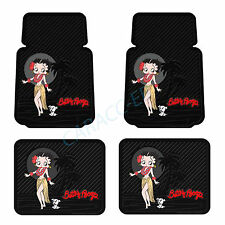 New Betty Boop Hawaiian Aloha 4 piece Car Truck SUV Front Rear Rubber Floor Mats
