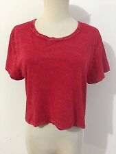 Truly Madly Deeply Knit Top Red Originally Distressed Size M