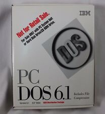 IBM's PC DOS 6.1 w/ Manual PC classic command line operation system computer OS