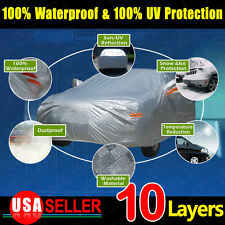 10Layer 3M SOFT Car Cover Outdoor Wtaerproof Sun UV Rain Snow Ice Resist Protect