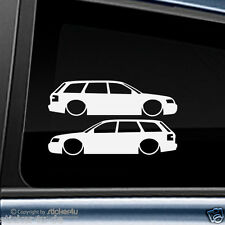 (955) 2x Fun Sticker Aufkleber / Low and Slow Audi A6 RS6 4B Avant