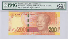 2012 South Africa S African Reserve Bank 200 Rand PMG 64 EPQ Choice UNC P#: 137a