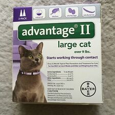 Advantage II for Large Cats Over 9 Lbs - 2 Dose Pack-Genuine EPA Approved