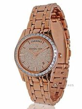 NEW WOMENS MICHAEL KORS (MK6146) KILEY CRYSTAL PAVE ROSE GOLD GLITZ WATCH