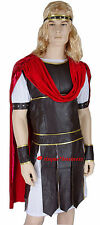 Mens Thor Caesar Roman Gladiator Medieval Warrior Toga Fancy Dress Costume - M
