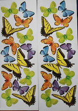 BUTTERFLIES wall stickers 28 colorful decals bugs insects monarch fluttering