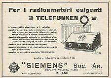 Z0824 Telefunken 9 w per i radioamatori esigenti - Pubblicità del 1929 - Advert.