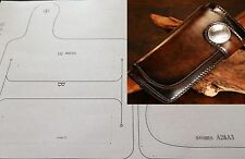 Leather craft Patterns DIY Designs Long Wallet Paper Template Drawing Tools 8004