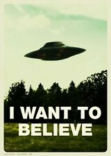 "I Want To Believe - X Files Art Movie Film UFO  Poster 32"" x 24"" Decor 03"