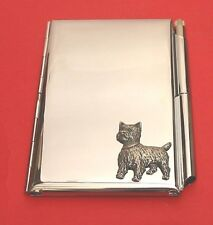 West Highland Terrier Chrome Notebook / Card Holder & Pen Westie Christmas Gift
