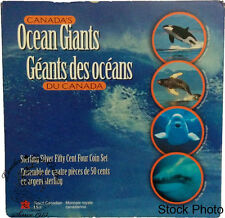 Canada 1998 50 Cents Canada's Ocean Giants - Whales Coin Set
