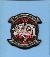 VS-22 CHECKMATES US NAVY S-2 TRACKER LOCKHEED S-3 VIKING DECOM Squadron Patch