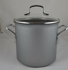 Vtg 1990's Calphalon Commercial Aluminum Non-Stick 8-Quart Stock Pot #808 w Lid