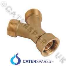 "3/4"" X 3/4"" BRASS Y PIECE SPLITTER TWIN OUTLET WASHING MACHINE HOSE CONNECTOR"