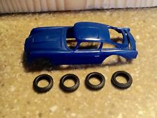 Gilbert Sears James Bond 007 Road Race Set Blue Aston Martin With Tires NOS