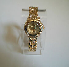 GENEVA GOLD FINISH BRACELET  CHRONOGRAPH STYLE  FASHION WOMAN WATCH