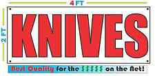 2x4 KNIVES Banner Sign NEW Discount Size - Best Quality for The $$$