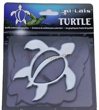 1 New 3D Chrome Turtle Self Adhesive Emblem Badge/Decal Car Truck Motorcycle RV