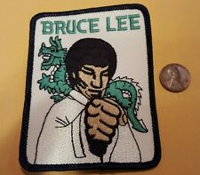 "Bruce Lee  martial artist embroidered vintage sew on Patch 3"" x 4"""