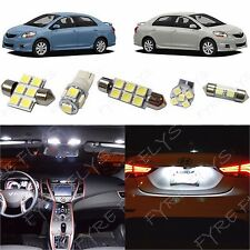 6x White LED lights interior package kit for 2007-2012 Toyota Yaris Sedan TY1W