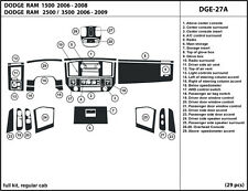 Dodge Ram  2006-2009 Real Carbon Fiber Dash Kit Trim  DGE-27A