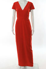 RAOUL Red Cap Sleeve V Neck Last Word Gown Size 10 New $575 10167746
