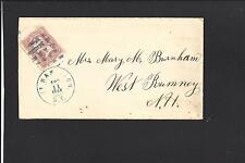 New listing FORT HAMILTON,NEW YORK,1863. DCDS, #65, BLUE FANCY GEOMETRIC & CL. KINGS 1833/96