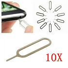 10X Sim Card Tray Remover Ejector Pin Key Tool for Apple iPhone 6s 5S 4S 4 3 W89