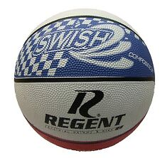 *New* Genuine 71921 Regent Swish Red White Blue Basketball Size 7 Indoor Outdoor