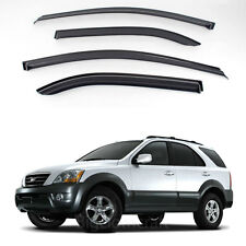 New Smoke Window Vent Visors Rain Guards for Kia Sorento 2006 - 2008