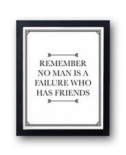 It's a Wonderful Life inspired print! friends, friendship, life quote, capra