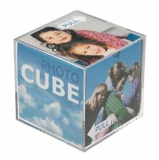 """Photograph Cube Clear Acrylic Photo Display Block Frame (Square 3.25""""/ 8.5cm)"""