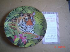 The Hamilton Collection Collectors Plate LORD OF THE RAIN FOREST Tiger