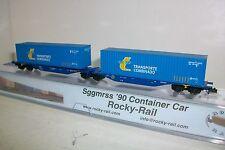 "N  ROCKY-RAIL  RR602010 - RENFE doble gondola contened. ""TRANSPORTE COMBINADO"""