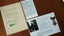 William Mackey Wherry Autograph Letter 1872 Orders Gen Schofield ERA HS