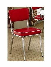 Retro Kitchen Chairs Red Vintage Dining Style Set Of 2 1950's Diner Appeal
