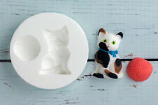 Kitten, Cat, Wool, Food Grade Silicone Sugar craft/chocolate/fimo Mould M025